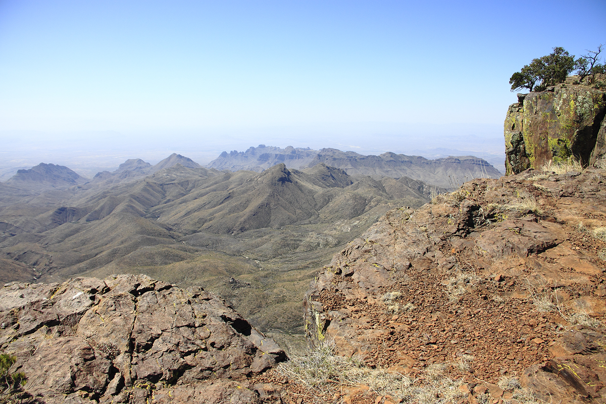 Looking Down on the Sierra Quemada From the Chisos SW Rim Trail