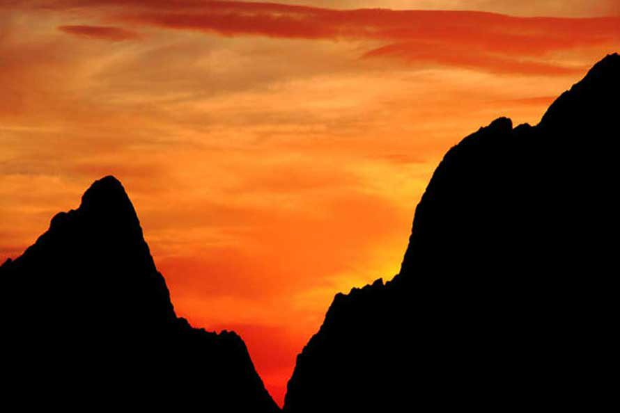 Landscape photography - Sunset Through The Window in the Chisos Mountains